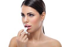 Lippensorgfalt lizenzfreie stockbilder