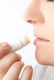 Lippensorgfalt lizenzfreie stockfotos