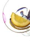 Lippenstift auf Glas Lizenzfreies Stockfoto