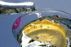 Lippenstift auf Glas Lizenzfreie Stockfotografie