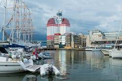 Lippenstift de bouwmening, één van het beroemde het aantrekken oriëntatiepunt in Gothenburg stock afbeelding
