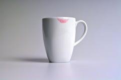 Lippenstift en Koffie Royalty-vrije Stock Foto's