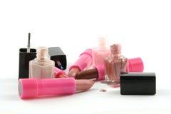 Lippenstift en Nagellak Stock Afbeelding