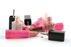 Lippenstift en Nagellak Stock Afbeeldingen