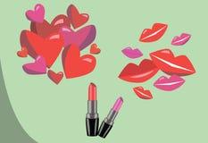 Lippenstift für Ihr Design Lizenzfreie Stockbilder