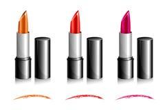 Lippenstift-Farbtöne Stockfoto