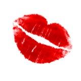 Lippenstift-Kuss lizenzfreie abbildung