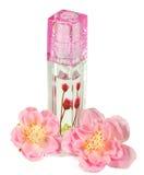 Lippenstift met bloemen Stock Fotografie