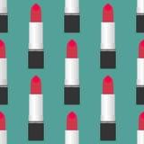 Lippenstift Naadloos Patroon Stock Afbeelding