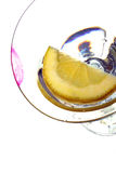 Lippenstift op glas Royalty-vrije Stock Foto