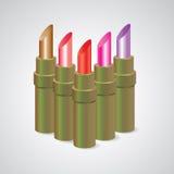 Lippenstift, stellte Farbe ein Lizenzfreie Stockfotografie
