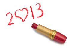 Lippenstift und 2013 Lizenzfreie Stockfotografie