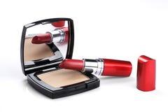 Lippenstift-und Pulver-Vertrag Lizenzfreie Stockbilder