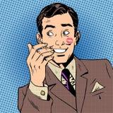 Lippenstiftart-Kunstknall des Playboymannkussgesichtes roter stock abbildung