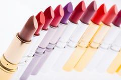 Lippenstifte in Folge Lizenzfreie Stockfotografie