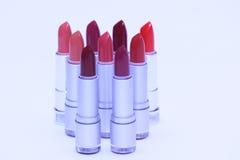 Lippenstiften in diverse kleuren Royalty-vrije Stock Foto