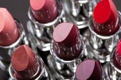 Lippenstiften op een rij Royalty-vrije Stock Foto