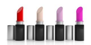 Lippenstiften op witte achtergrond 3D Illustratie stock illustratie