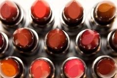 Lippenstiften van hierboven stock afbeelding