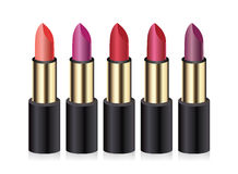 Lippenstiften. Vectorillustratie. Royalty-vrije Stock Afbeelding