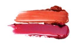 Lippenstiftproben Stockfoto