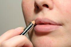 Lippenstiftverfassung lizenzfreie stockbilder