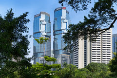 Lippo mitt, Hong Kong Royaltyfria Bilder