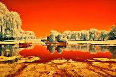 Lippold Park, Crystal Lake, Illinois. Lippold Park in Crystal Lake, Illinois photographed in infrared Stock Photography