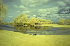 Lippold parkerar, Crystal Lake, Illinois Royaltyfria Bilder