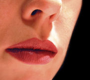 Lips. Close-up of a woman's lips Royalty Free Stock Photos