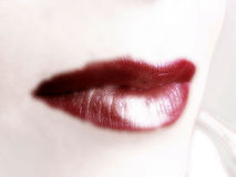 Lips. The woman red lips, high key Royalty Free Stock Images