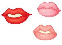 Lips. Illustration of lips on white background Stock Images