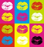 Lips. Varicoloured lips on a varicoloured background Royalty Free Stock Photo