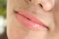 Lips. On a filipina stock images