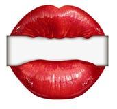 Lips Blank Sign vector illustration