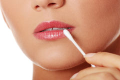 Lips care Stock Images