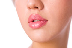 Lips close up Royalty Free Stock Image