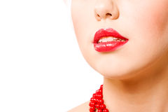Lips close up Royalty Free Stock Photo