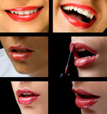 Lips collage Royalty Free Stock Image