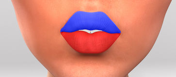 Lips colored. Stock Photography