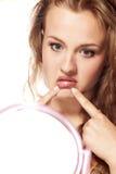 Lips correction Stock Image