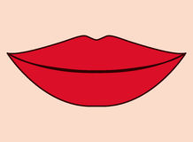 Lips design. Lips  design over peach background, vector illustration Royalty Free Stock Image