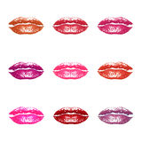 Lips in different colors Royalty Free Stock Images