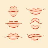 Lips emotions set Royalty Free Stock Image