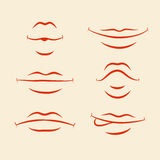 Lips emotions set Stock Images