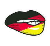 Lips German flag Royalty Free Stock Image