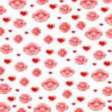 Lips & hearts Stock Image