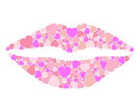 Lips hearts Stock Photos