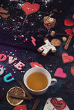 Lips and hearts Royalty Free Stock Photography