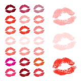 Lips, kiss colored Royalty Free Stock Image